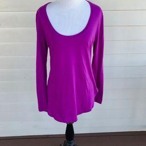 Fabletics  Plum Purple Long Sleeve T Shirt Top